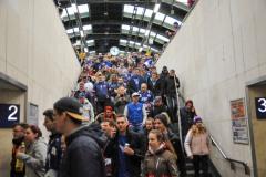 die Fans auf dem Weg ins Stadion