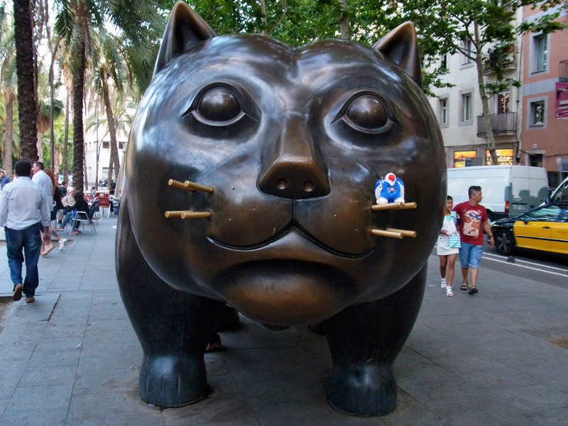 Barcelona, Katze von Botero